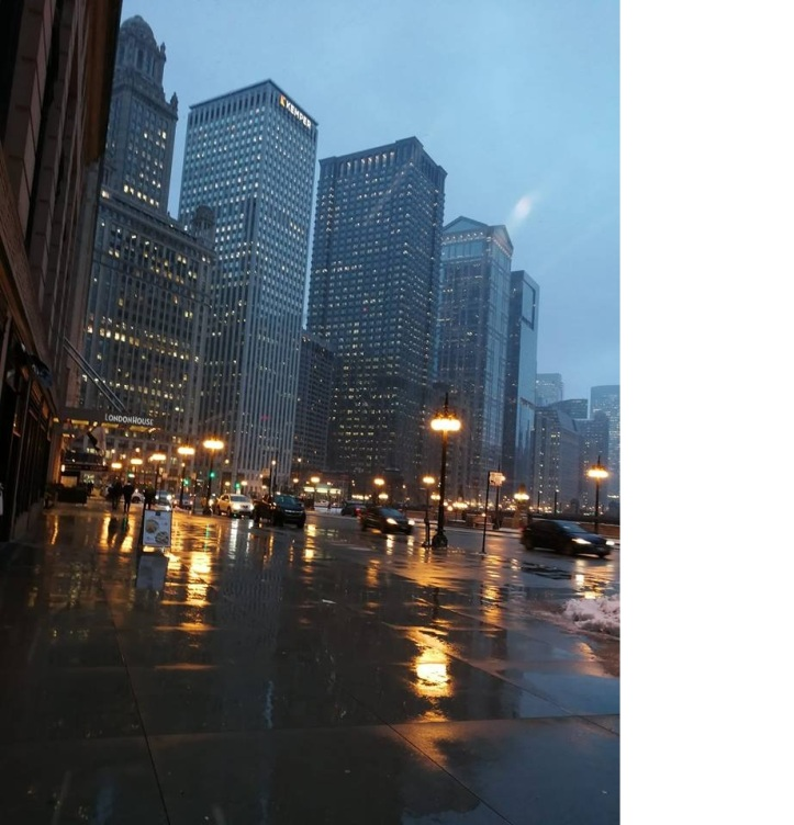 rainy chicago